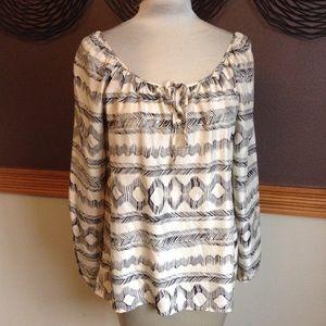 anthropologie VELVET silk float blouse as-is M